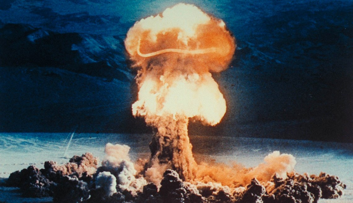 Nuclear Bomb Mushroom Blast, Clouds, Sky, 1963 Was a Year With Lasting Impact, AARP Politics, Events And History
