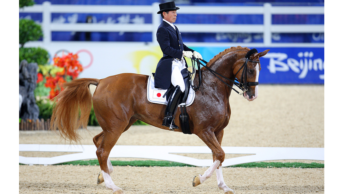 10 Great Older Olympians Who Went for the Gold - Hiroshi Hoketsu, equestrian