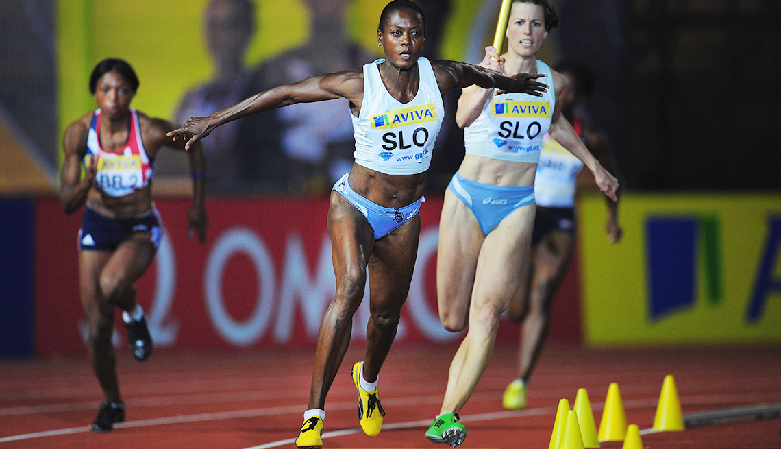 10 Great Older Olympians Who Went for the Gold -Merlene Ottey, track