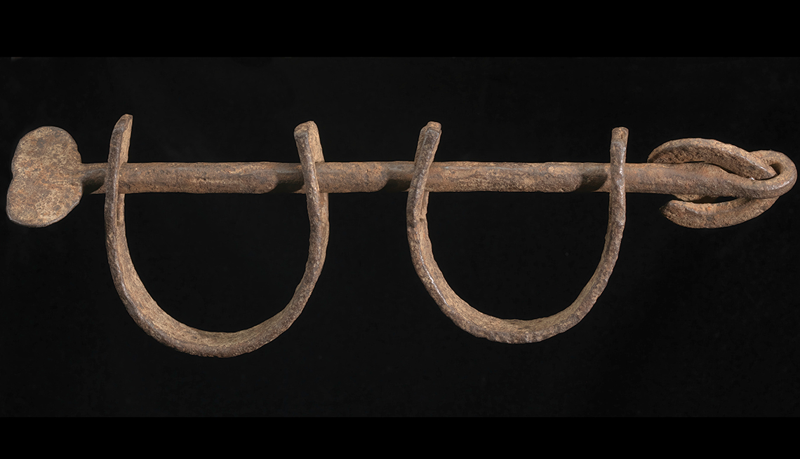 Wrought-iron ankle shackles
