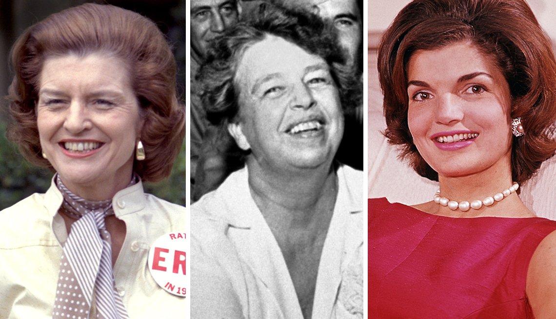 Elizabeth Anne Bloomer Ford, Eleanor Roosevelt y Jacqueline Bouvier Kennedy Onassis