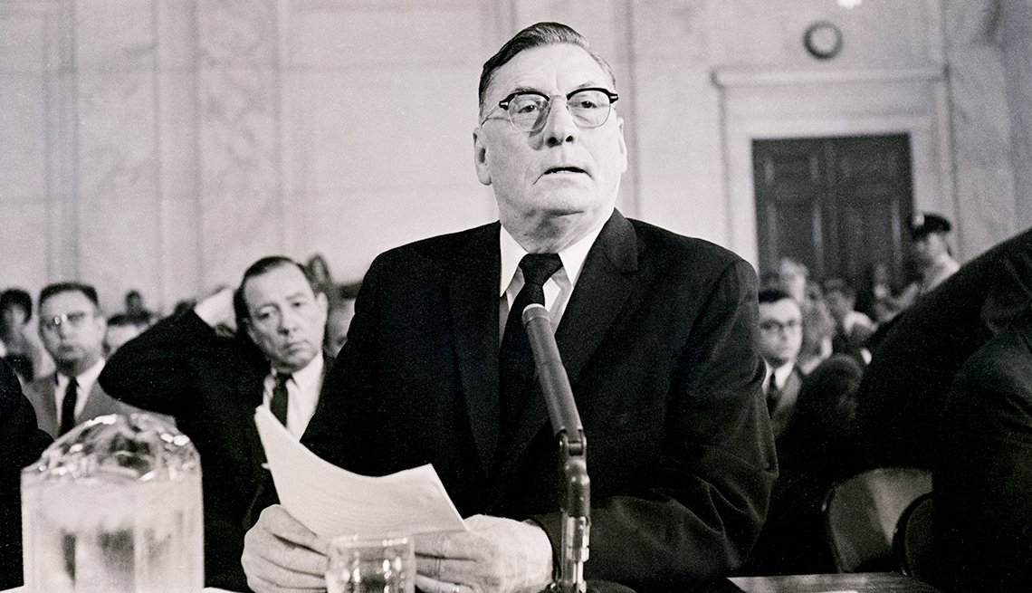 The Struggle for Civil Rights - Mississippi Gov. Ross R. Barnett testifies before the Senate Commerce Committee.