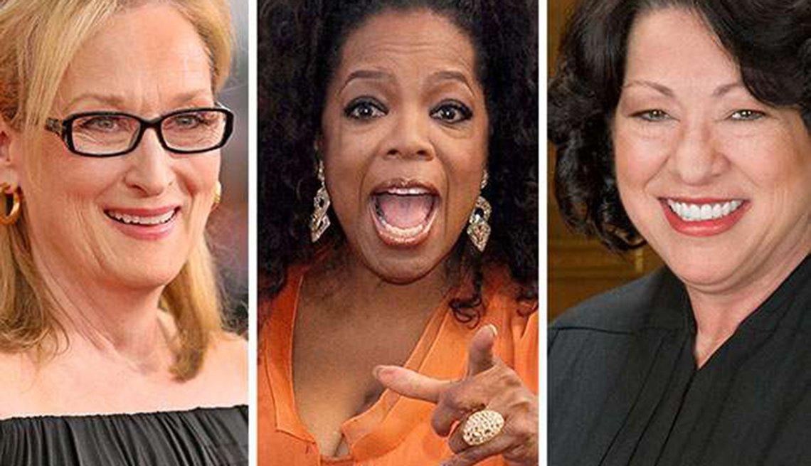 Meryl Streep, Oprah Winfrey y Sonia Sotomayor