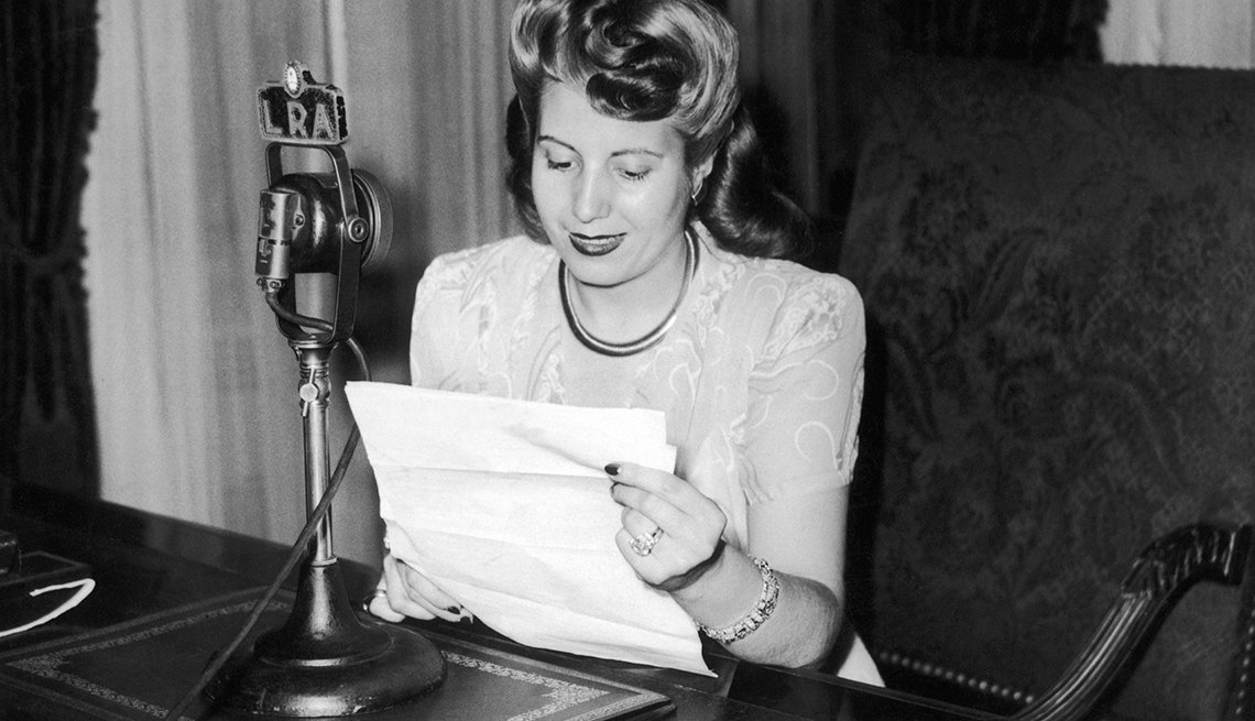María Eva Duarte de Perón: exprimera dama de Argentina (1946–1952)