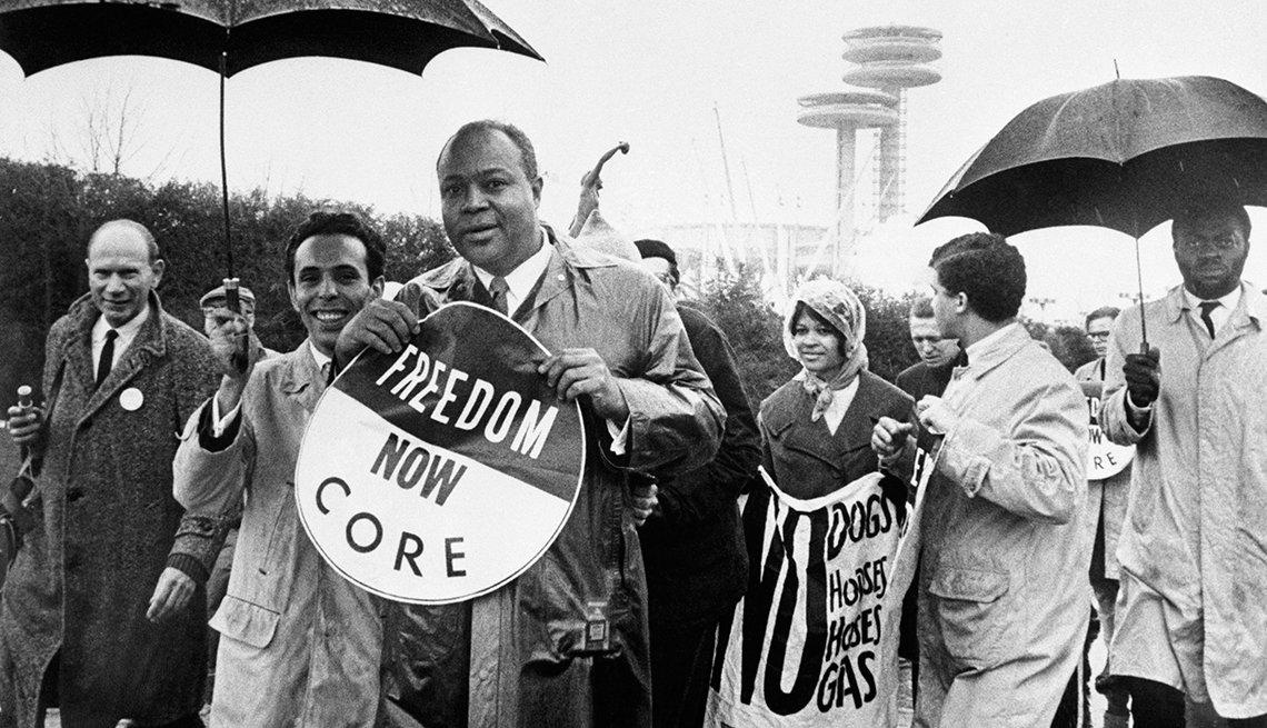 Líderes del movimiento por los derechos civiles