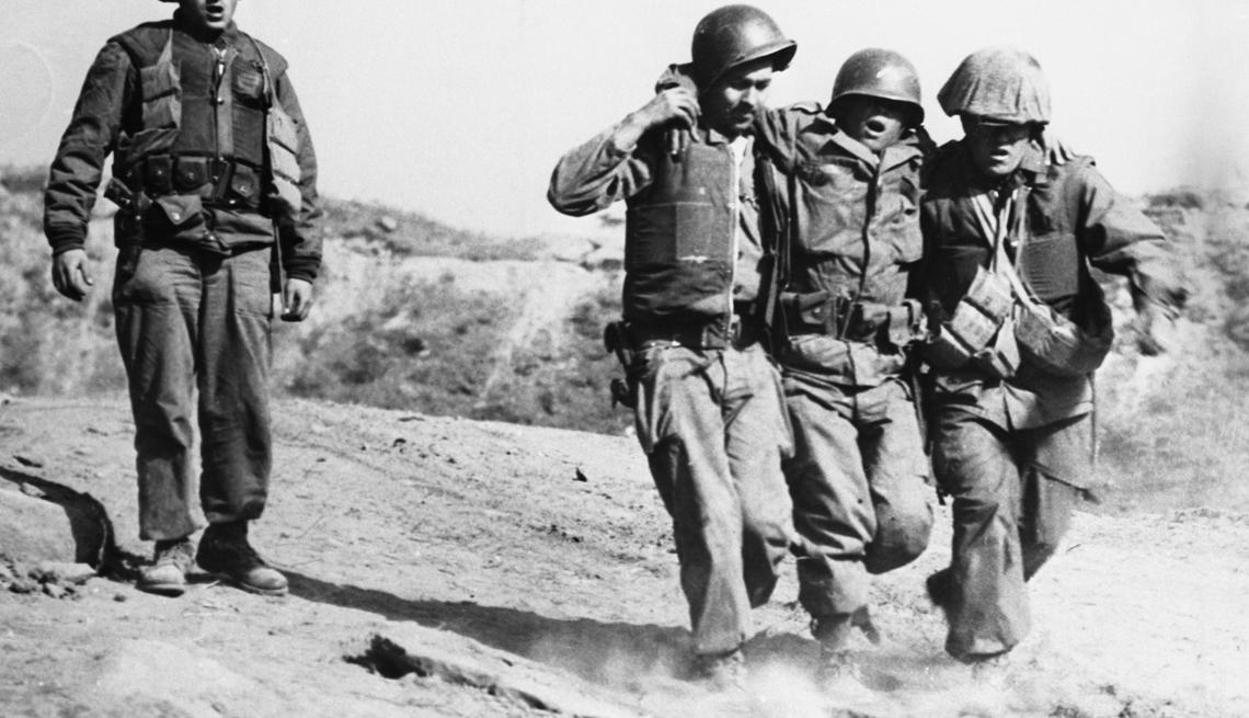 Wounded American Soldier, Pork Chop Hill, Korean War, Battle I'll Neverforget