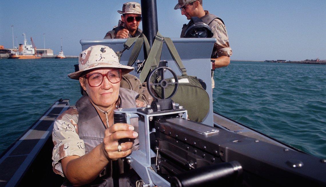 Coast Guard reservist Sandra Mitters, .50 caliber machine gun, Operation Desert Shield, Battle I'll Never Forget