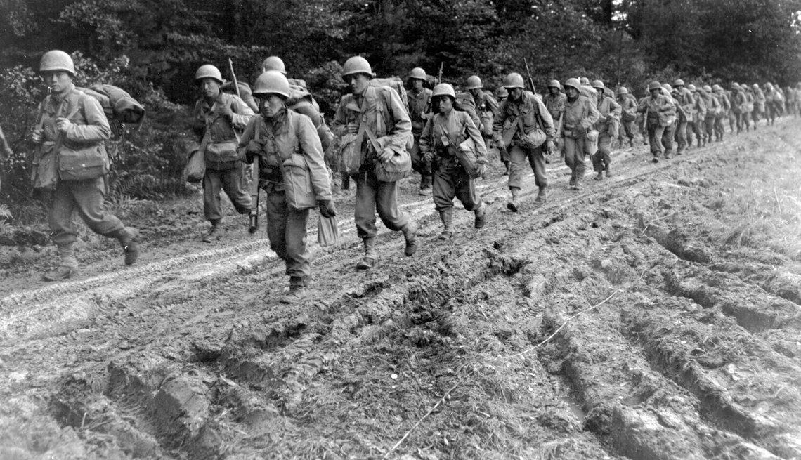 Japanese-American infantrymen, 442nd Regimental Combat Team, Chambois Sector, France, 1944, Battle I can't forget