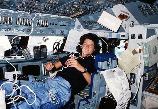 Sally Ride, primera mujer en el espacio