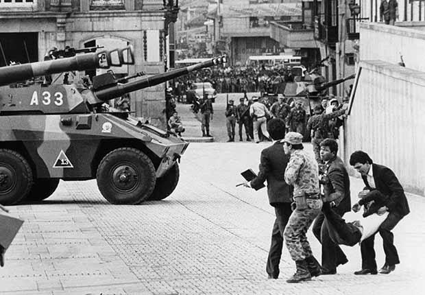 Toma del Palacio de Justicia por la guerrilla del M-19 en Colombia