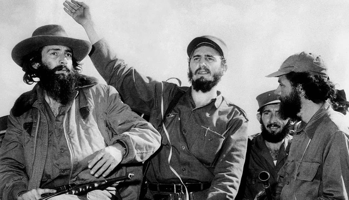 Fidel Castro a su llegada a La Habana