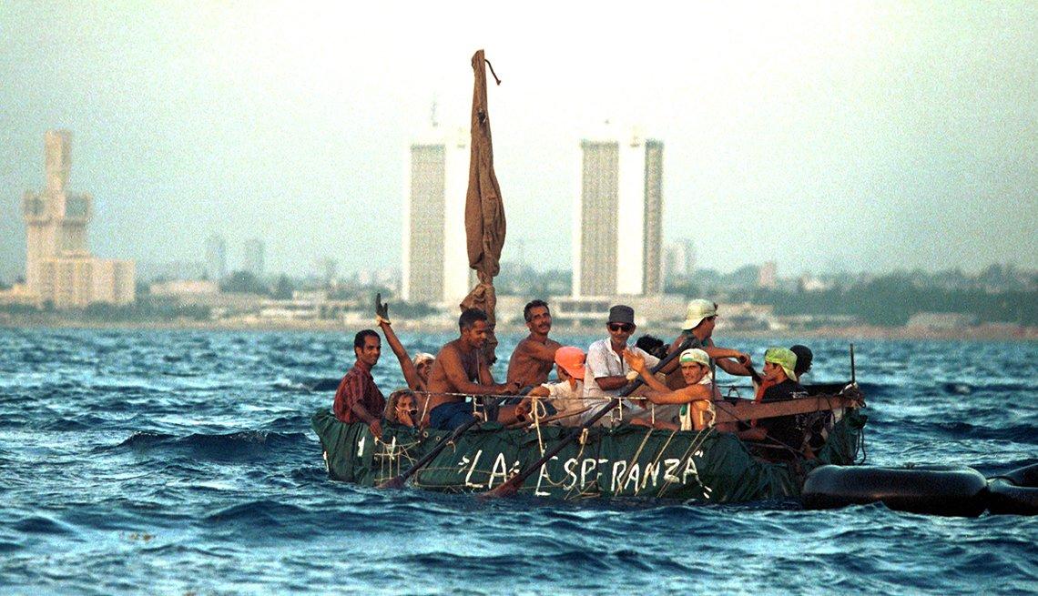 Exodo de cubanos en balsa