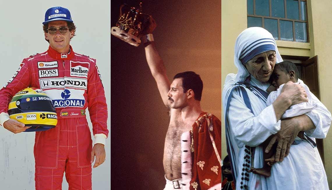 Ayrton Senna, Freddie Mercury y la Madre Teresa