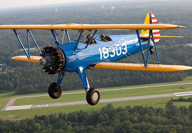 Avión biplano Stearman