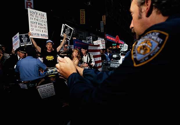 Activistas a favor de los derechos de los homosexuales