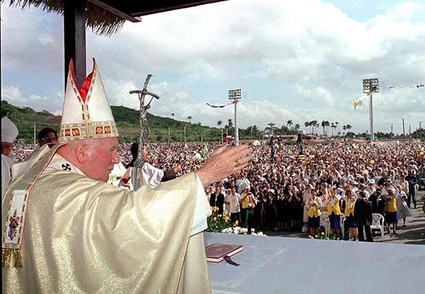 Papa Juan Pablo II en Cuba