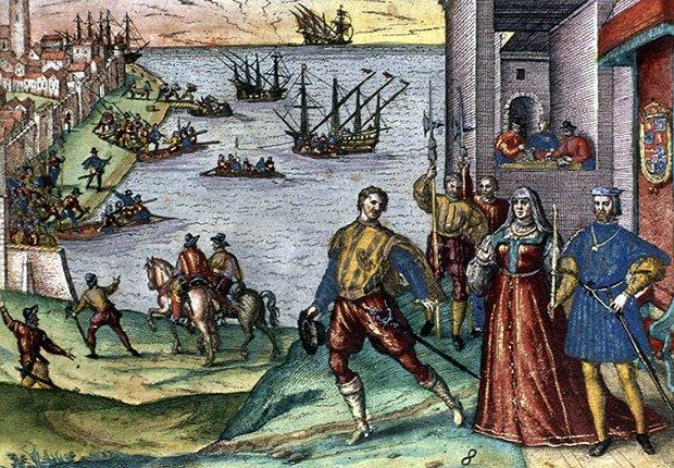 Llegada de Cristóbal Colón a América