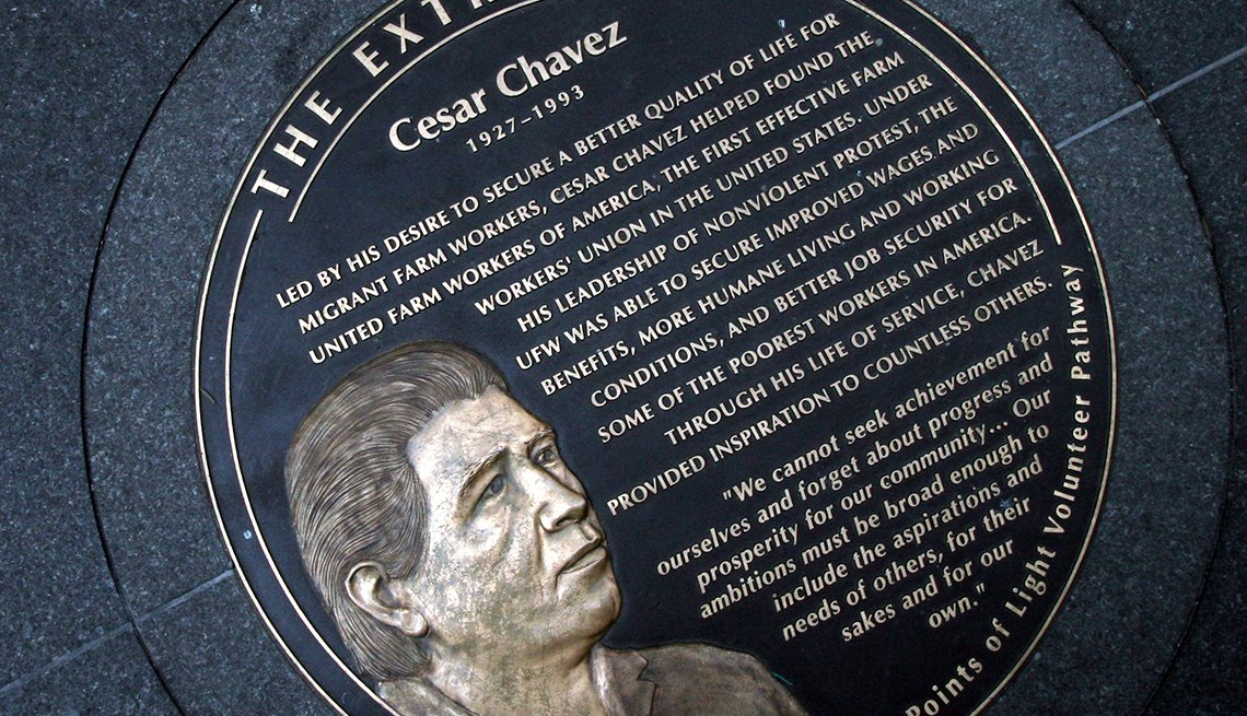 Monumento en honor a César Chávez, en Washington, D.C.