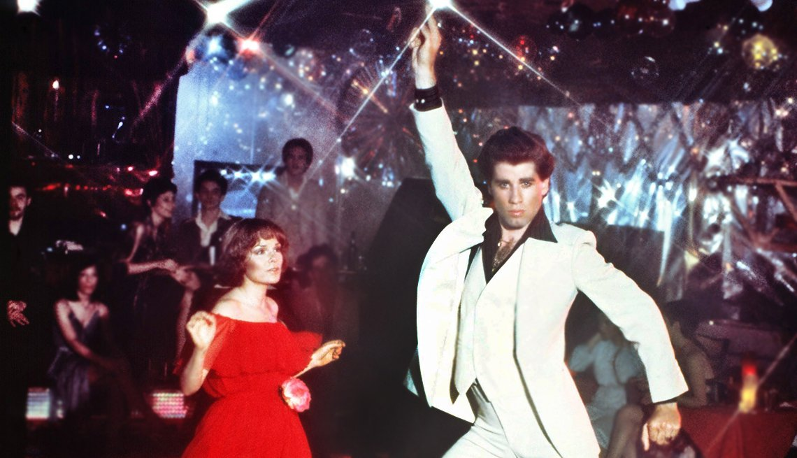 Iconos de la música disco, una escena de la película Saturday Night Fever