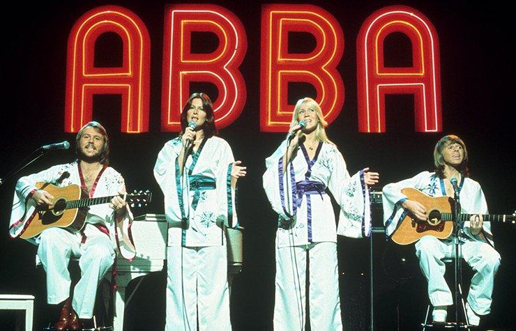 Iconos de la música disco, foto del grupo ABBA.