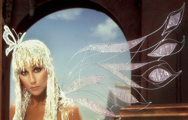 Iconos de la música disco, retrato de Cher.