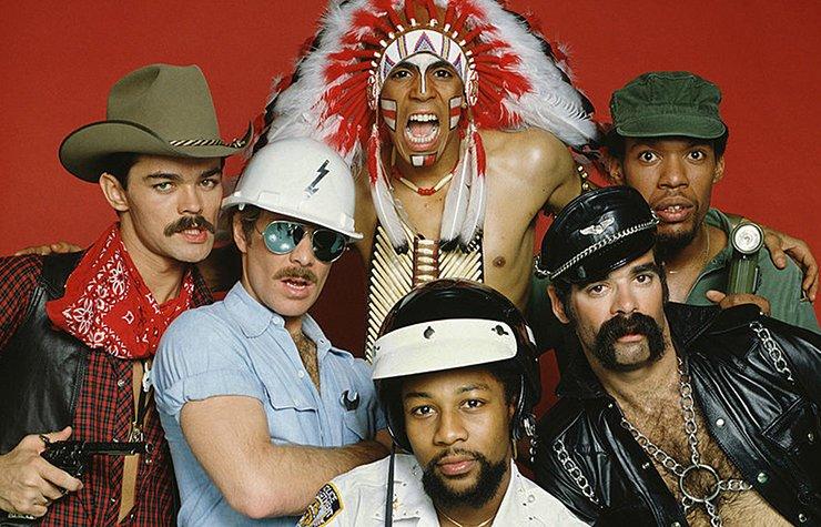 Iconos de la música disco, retrato de The Village People.