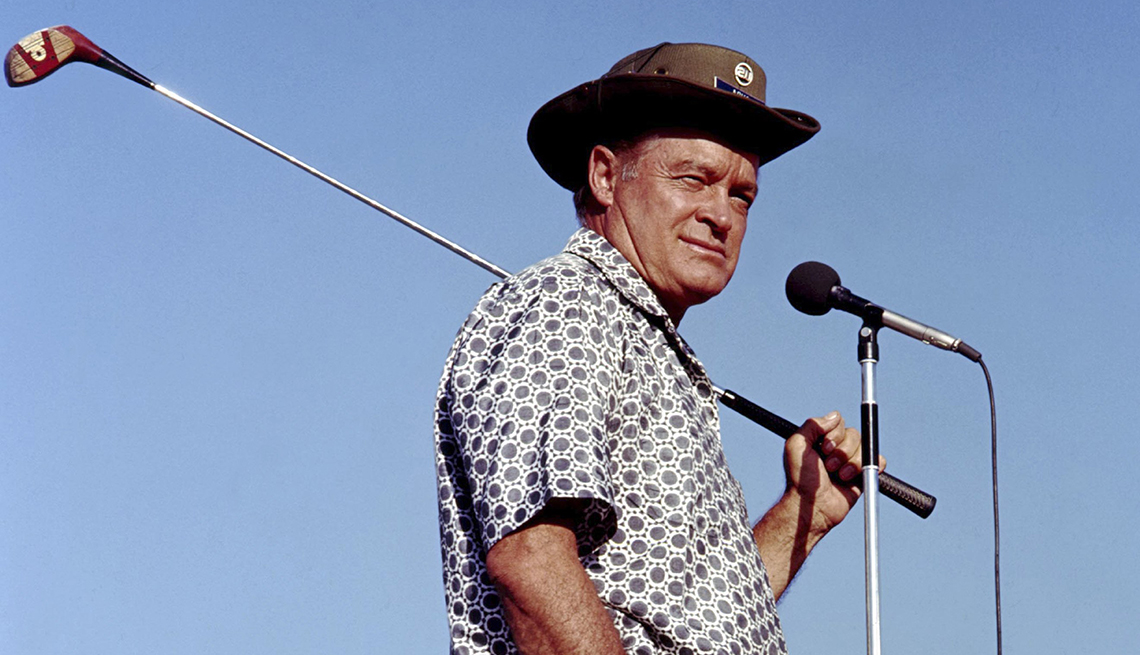 Bob Hope during a USO Tour for troops overseas