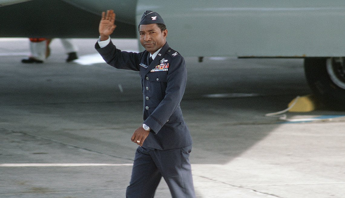 Fred Vann Cherry, Prisoner of War Released, Waving Airman in Uniform, Vietnam: The War That Changed Everything