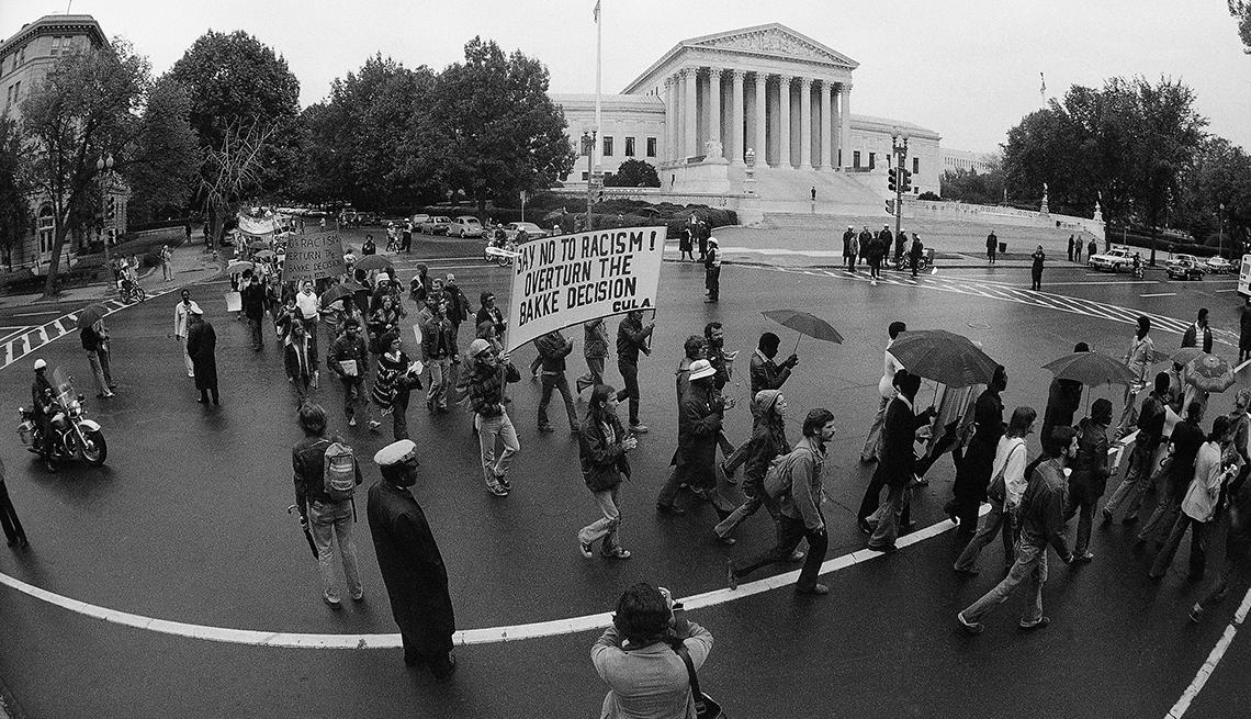 Protesta frente a la Corte Suprema en Washington D.C.