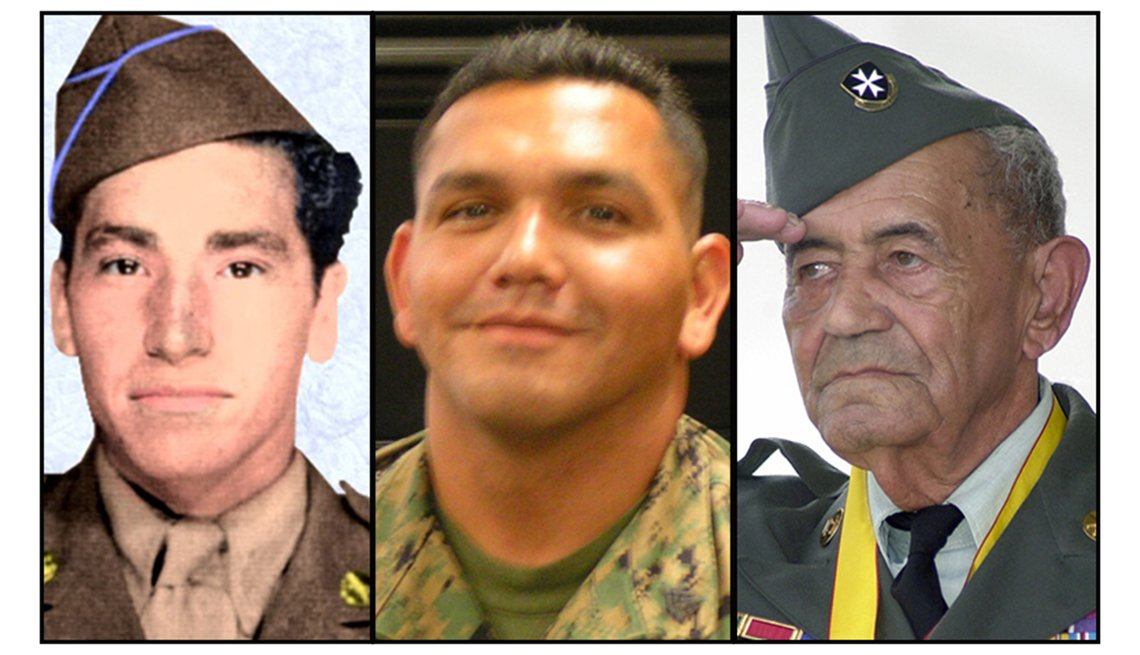 Pvt. 1st Class David M. Gonzales, Sgt. Luis Daniel Almaguer, Sgt. 1st Class Modesto Cartagena
