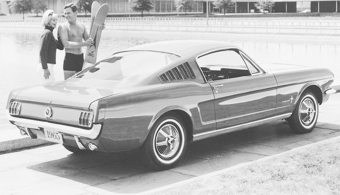 1965 Ford Mustang Fastback, Waterskis, Couple, Summer, Ford Mustang: A Great 50-Year Trajectory