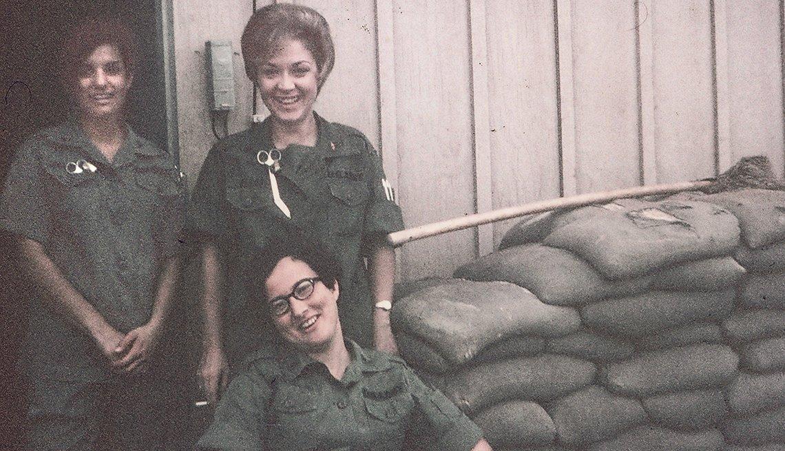 Enfermeras durante la guerra de Vietnam