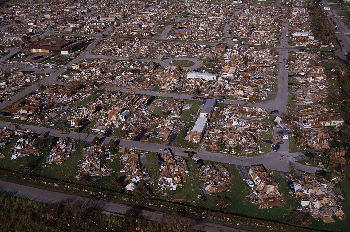 Hurricane Andrew, Neighborhood Rubble