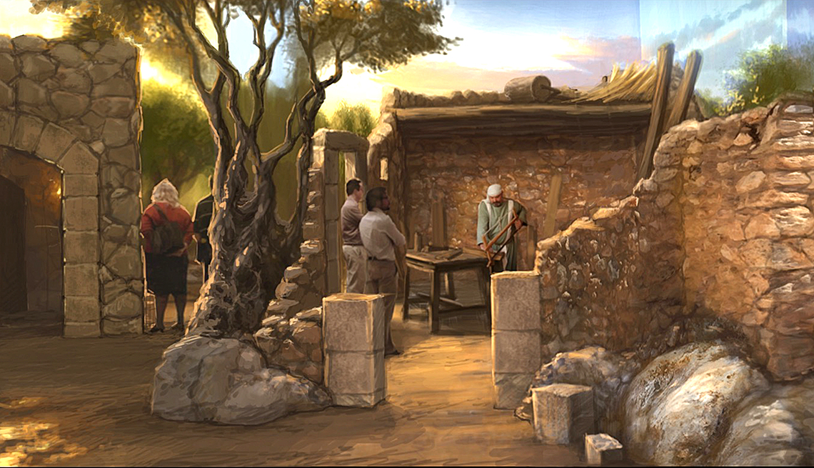 el Museo de la Biblia - Recreación de una villa en la época de Jesus de Nazareth