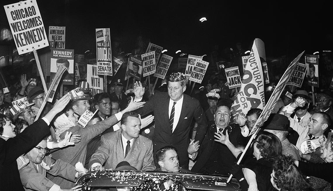 John F. Kennedy de campaña en Chicago