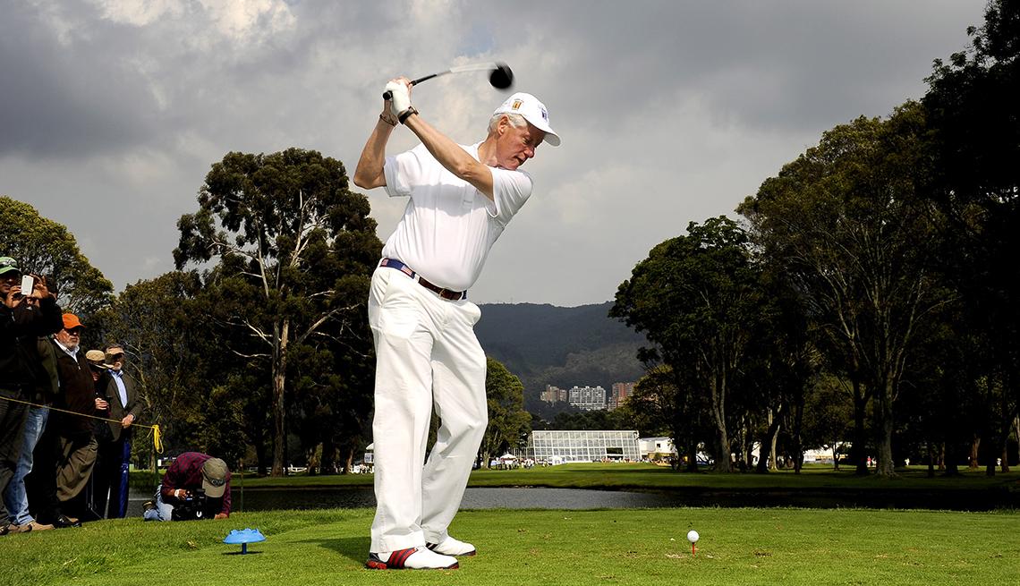 Bill Clinton jugando al Golf