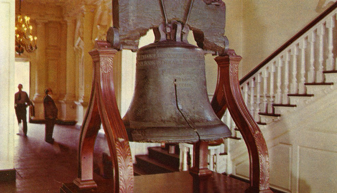 La Campana de la Libertad en el Independence Hall en Filadelfia Pensilvania