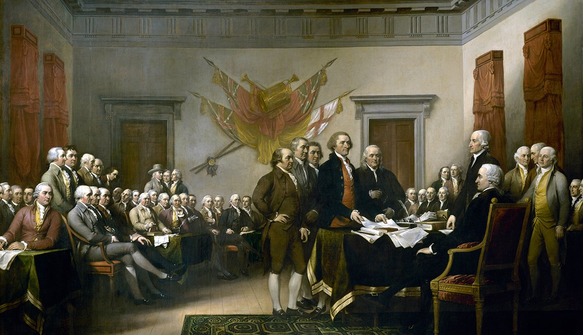 Pintura de la firma de la Declaración de la Independencia