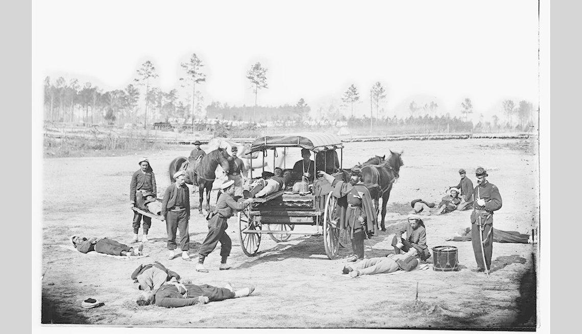 Carreta tirada por caballos