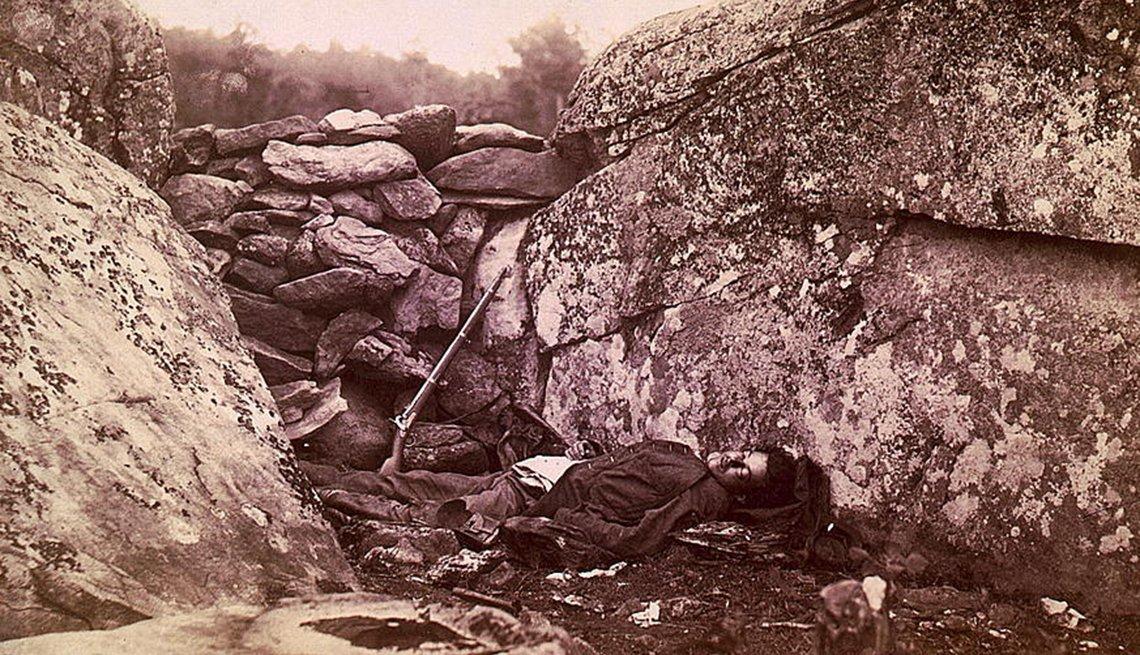 Soldado confederado muerto