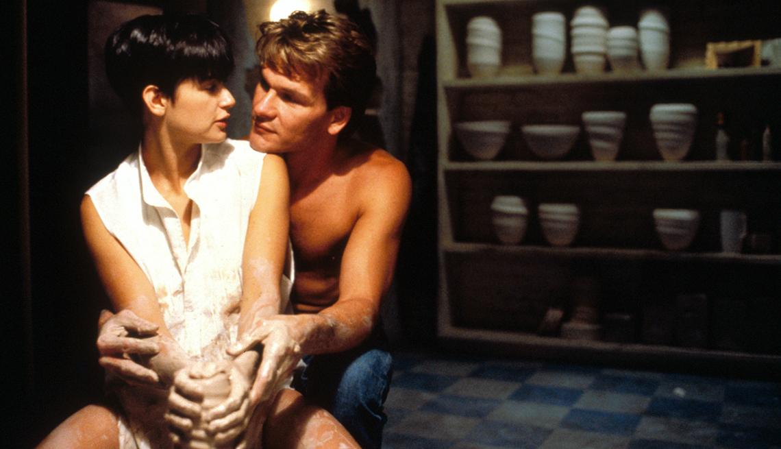 Demi Moore y Patrick Swayze estrellas de Ghost.