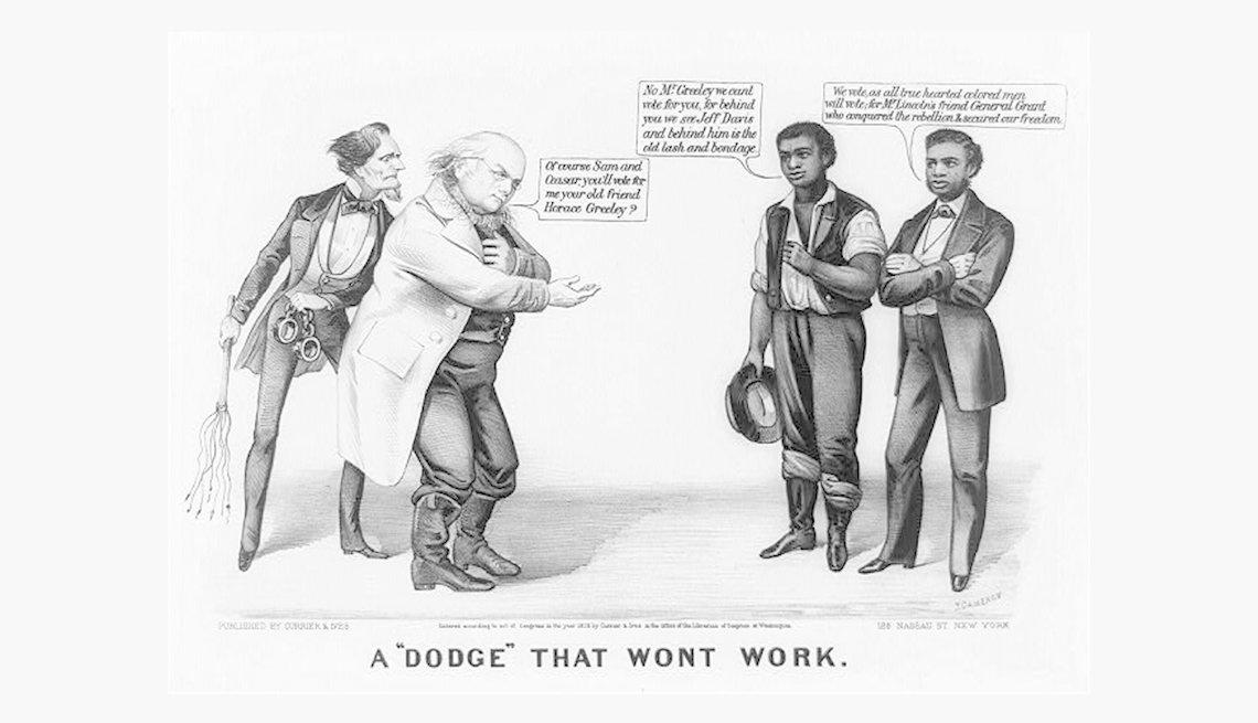 Caricatura política de Currier & Ives