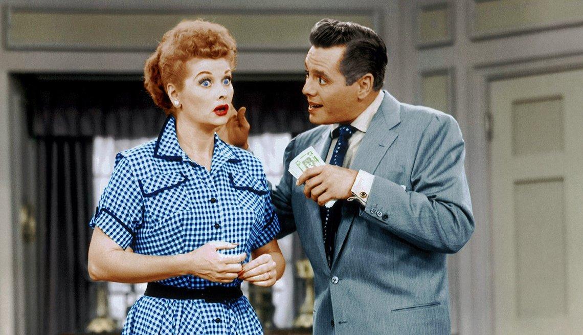 Imagen del programa de televisión Yo amo a Lucy television con Lucille Ball y Desi Arnaz.