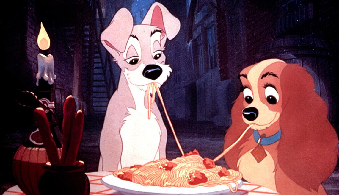 Perros animados de la película de Disney La Dama y el Vagabundo
