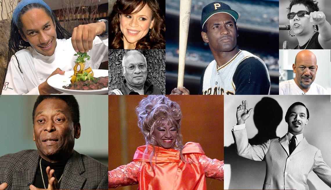 Varias fotos de  afrolatinos que hacen historia.