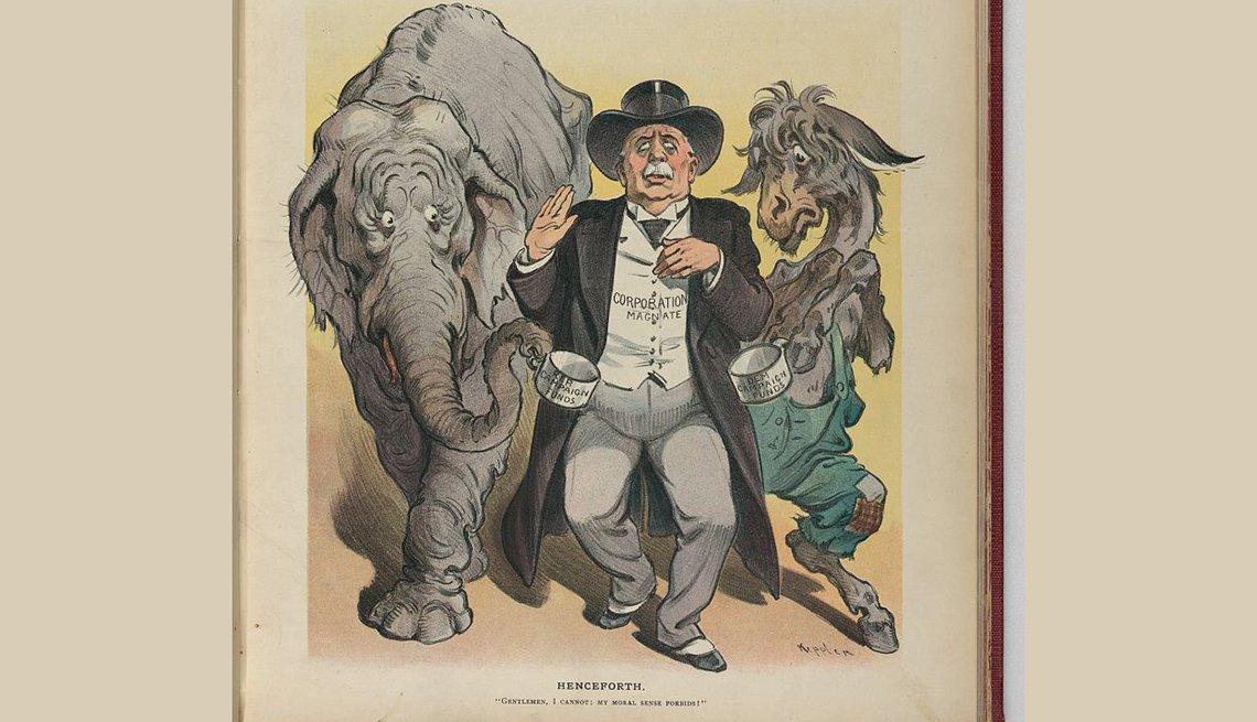 Una portada de la revista Puck en 1905