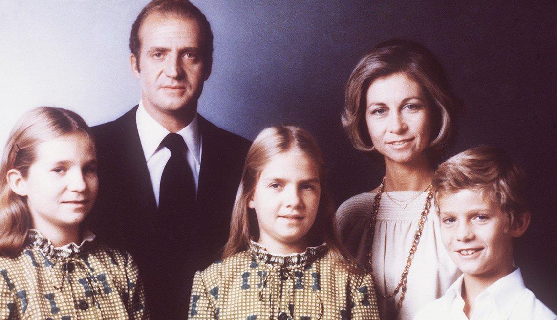 Portrato de la familia real de España en 1979.