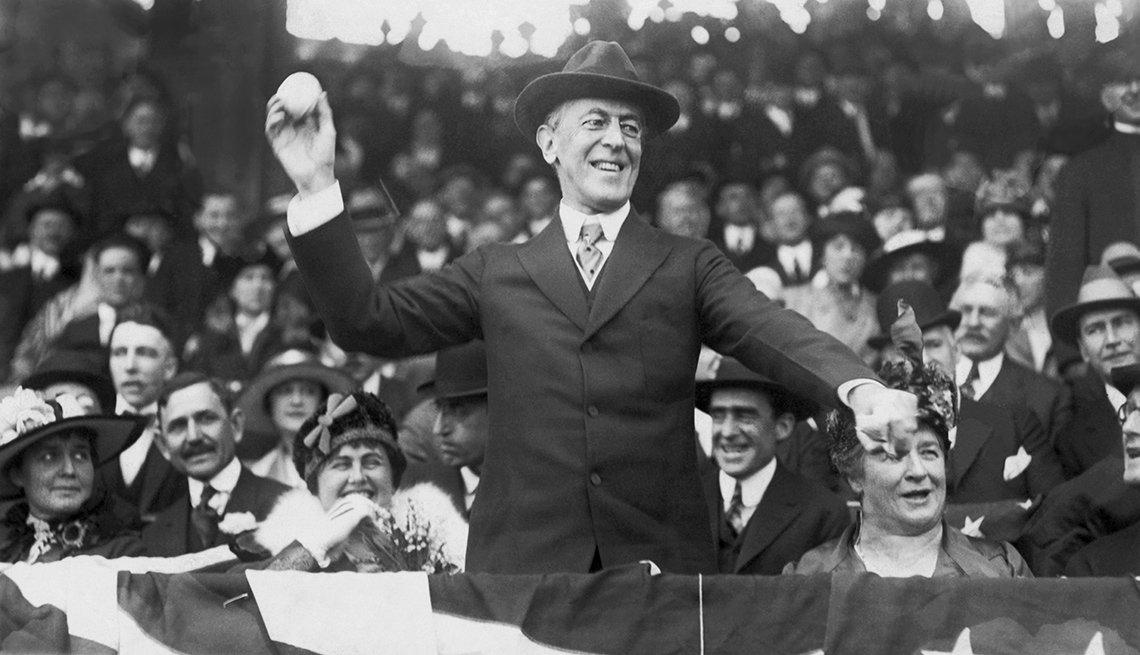 President Wilson Opens Baseball Season
