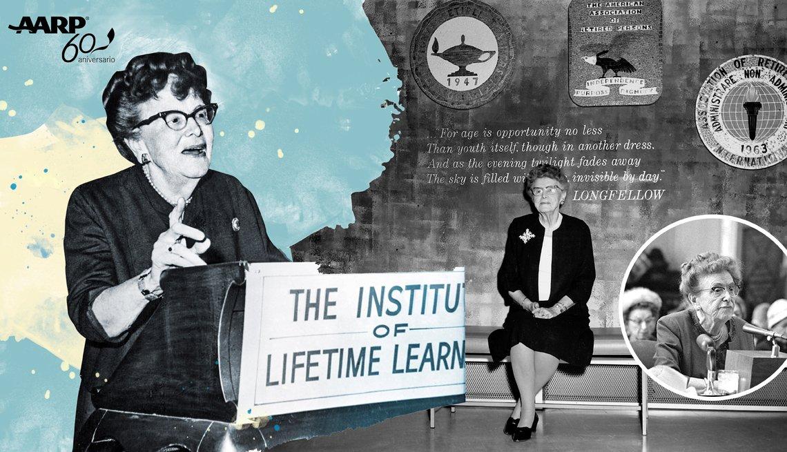 Imagen de la fundadora de AARP, Dra. Ethel Percy Andrus.