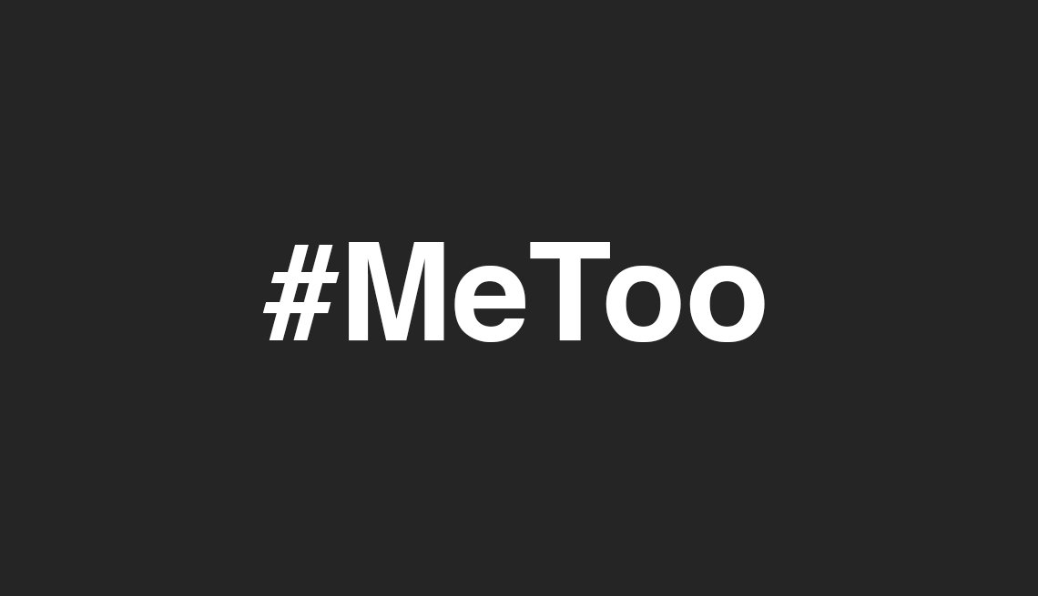 #MeToo on a black background